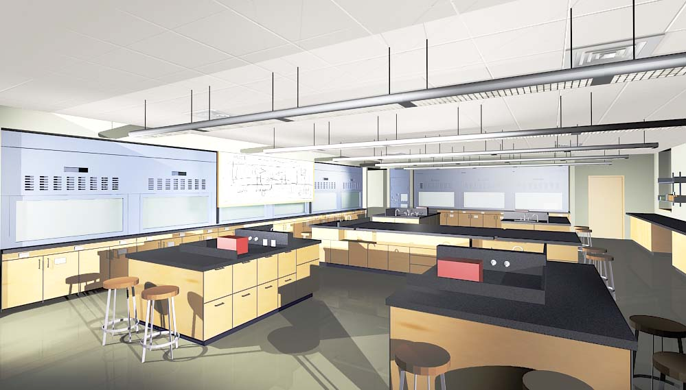 renderings of laboratory interiors