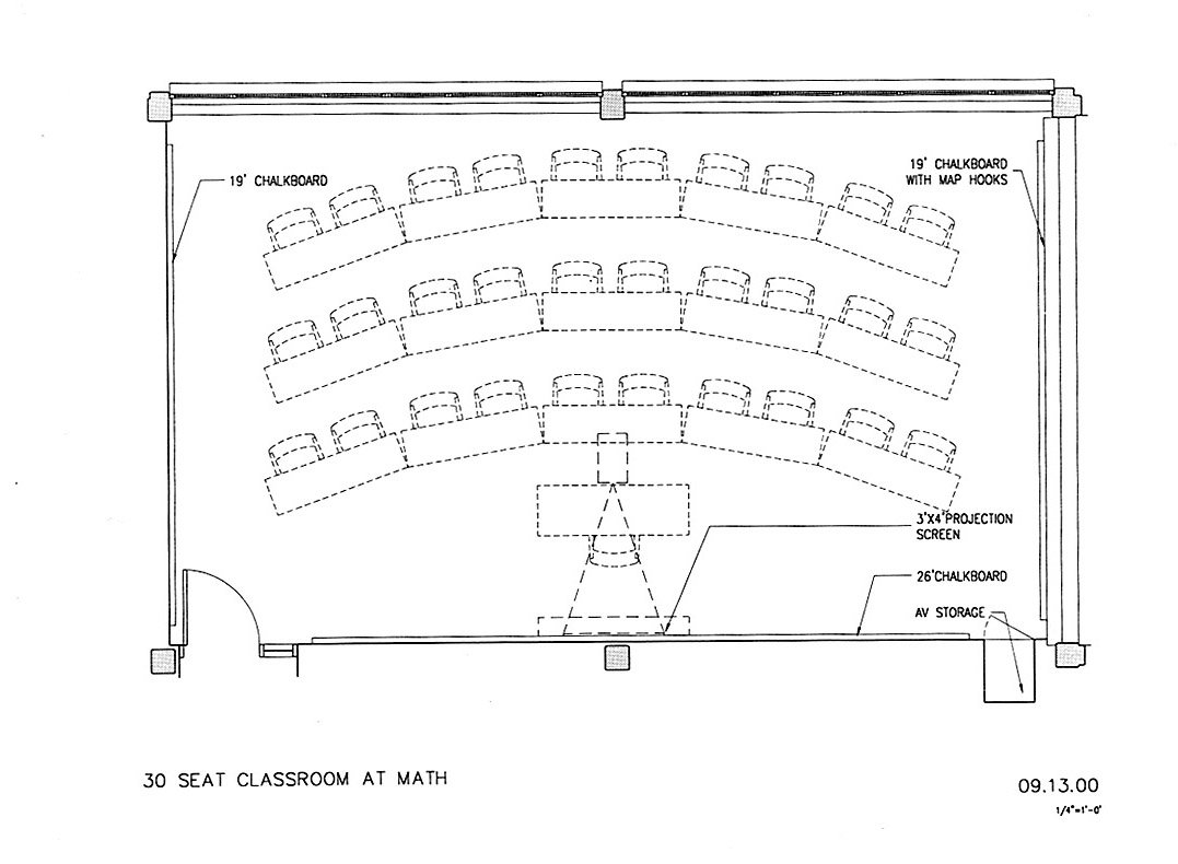 Classroom Design Blueprint : Math stat classroom plan