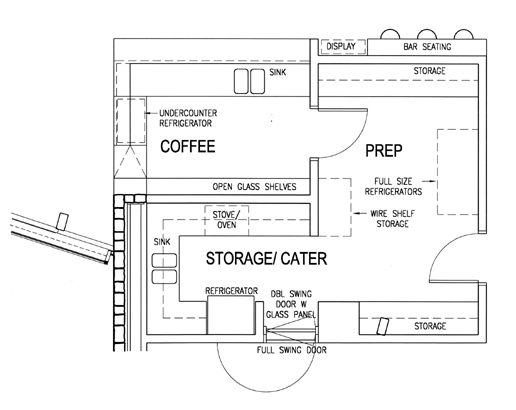 Coffee bar floor plan for Coffee shop floor plan with dimensions