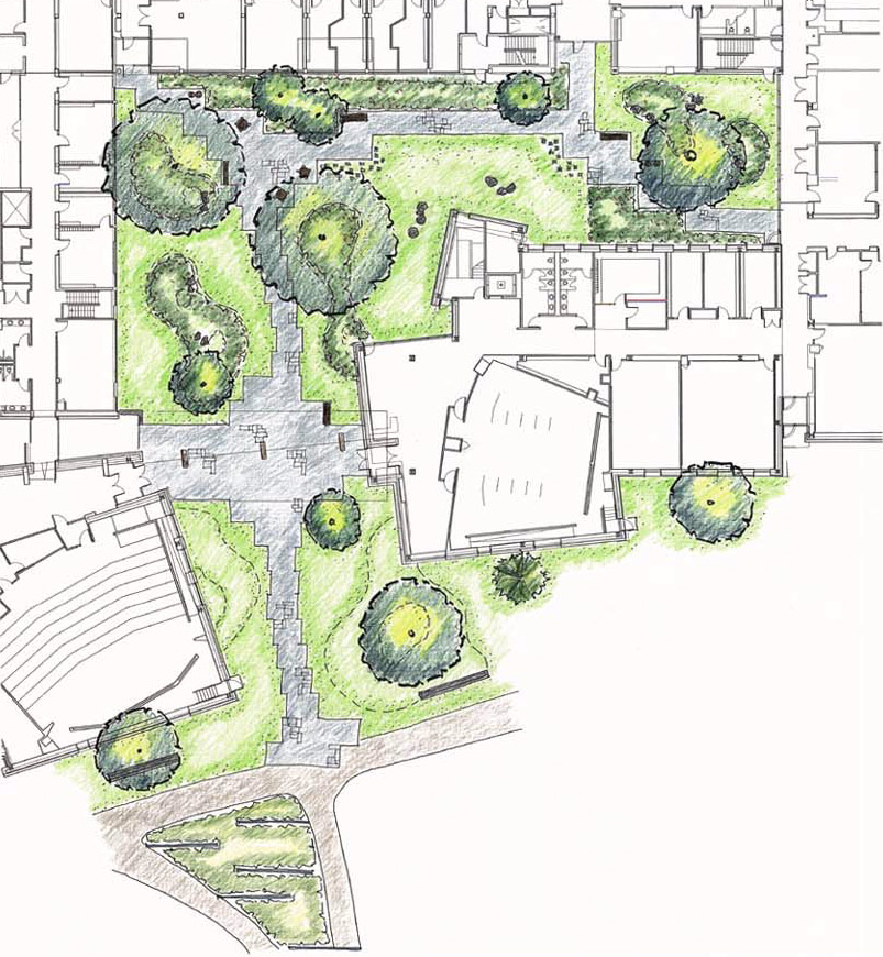 Garden Design Dwg : In architectural landscape design drawings trees are represented a