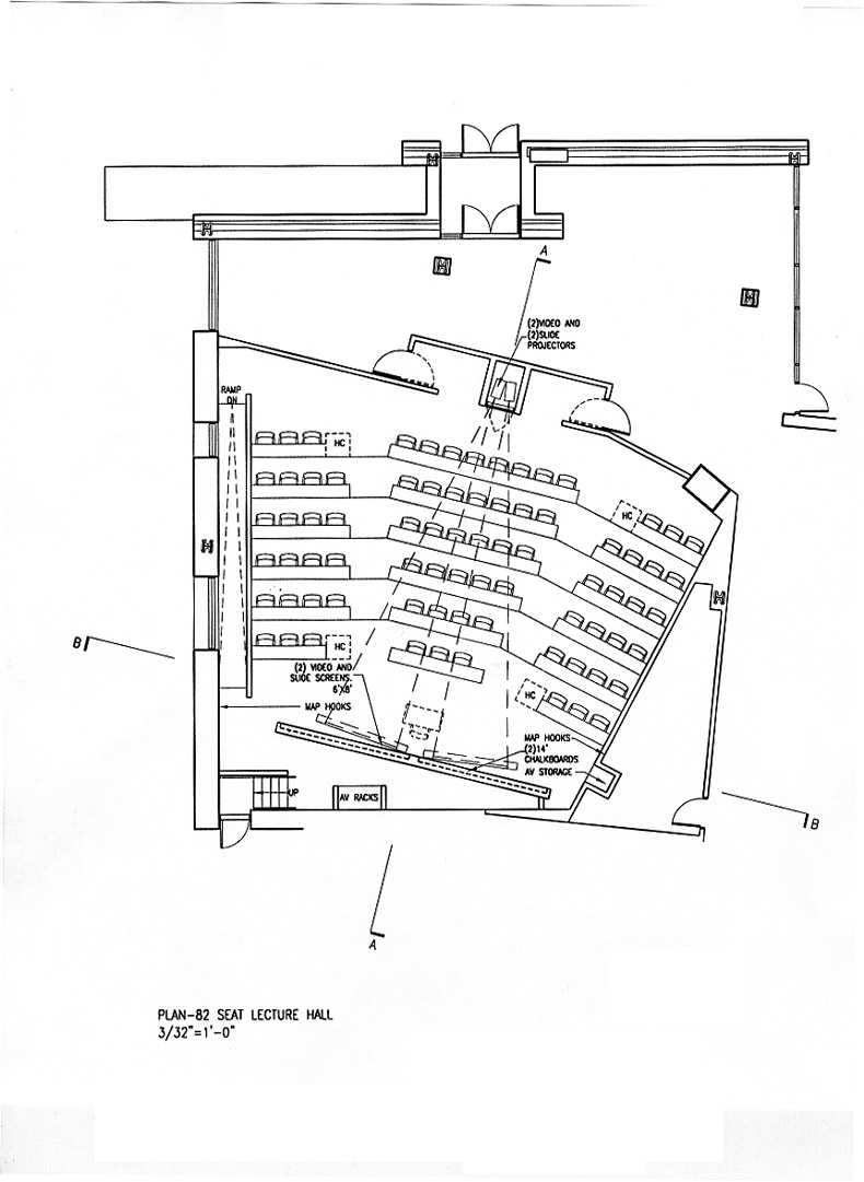 80 Seat Lecture Hall Plan Option A