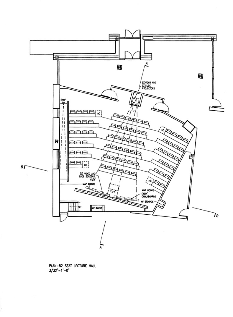 80 Seat Lecture Hall Plan Option B