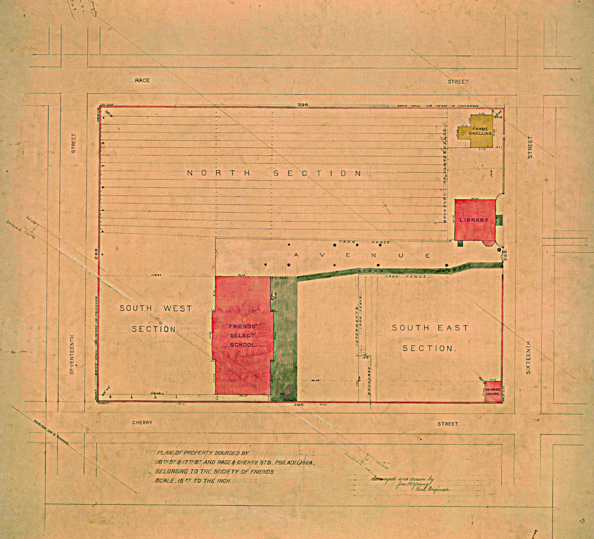 Philadelphia Quaker Burials Ry Piping Diagram Continued 1817 Purchase Of Western Ground14