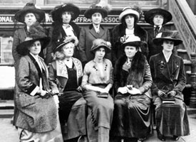 A National Women's Party meeting with Alice Paul, center. Courtesy of the National Woman's Party Collection, The Sewall-Belmont House and Museum.