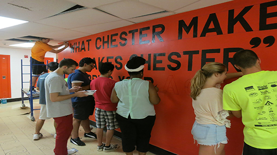 Students serve in Chester