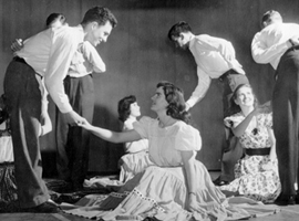 Folk dance club, 1948