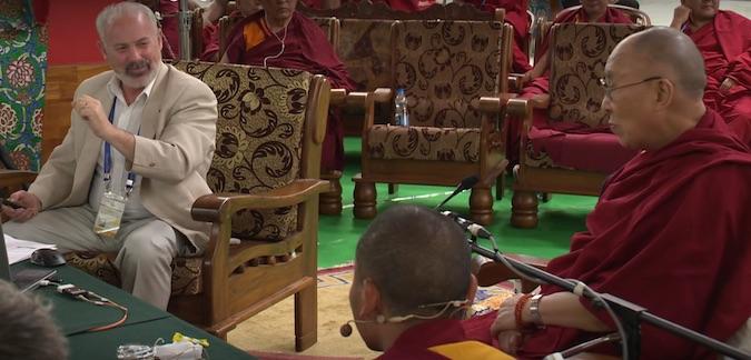 Scott Gilbert with the Dalai Lama