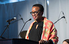 President Valerie Smith speaks