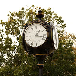 Swarthmore train station clock