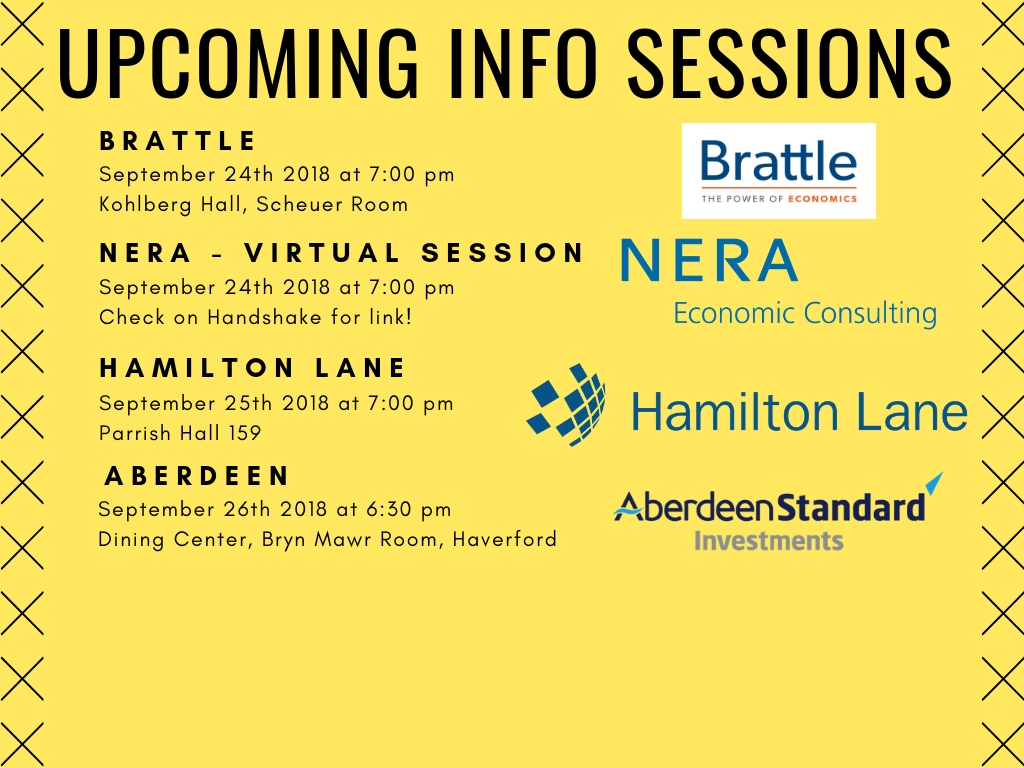 Upcoming Info Sessions (9/24-9/28)