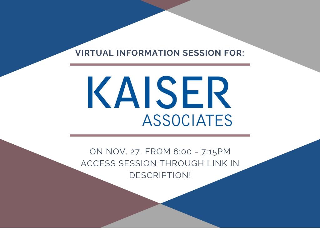 Kaiser Virtual Session