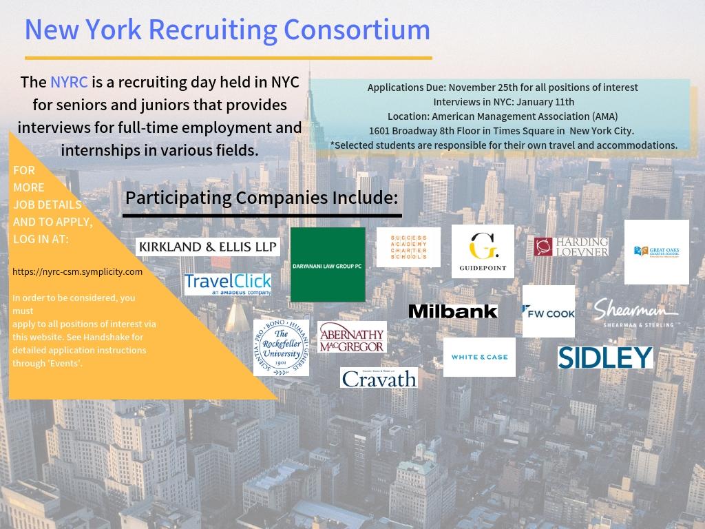 New York Recruiting Consortium 2018