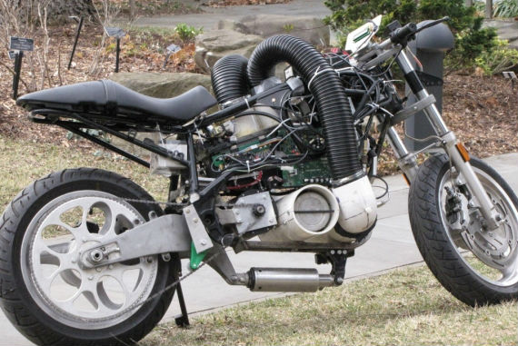 Hydrogen powered motorcycle