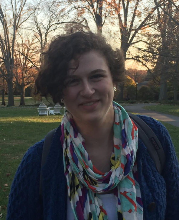 Headshot of Kemmer Cope '17. She is outdoors, wearing a scarf, and smiling at the camera.