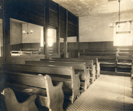 Photograph of the Interior of a Quaker Meeting House