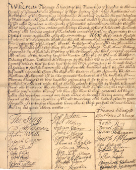 Original copy of Sharp family marriage certificate