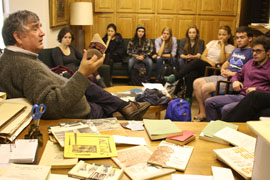 Photograph of Sociology class visiting FHL, courtesy of J. Lott