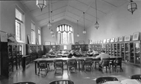 Photograph of the interior of Friends Historical Library, mid 20th century - Thumbnail
