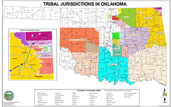 Map of Oklahoma Tribal Jurisdictions