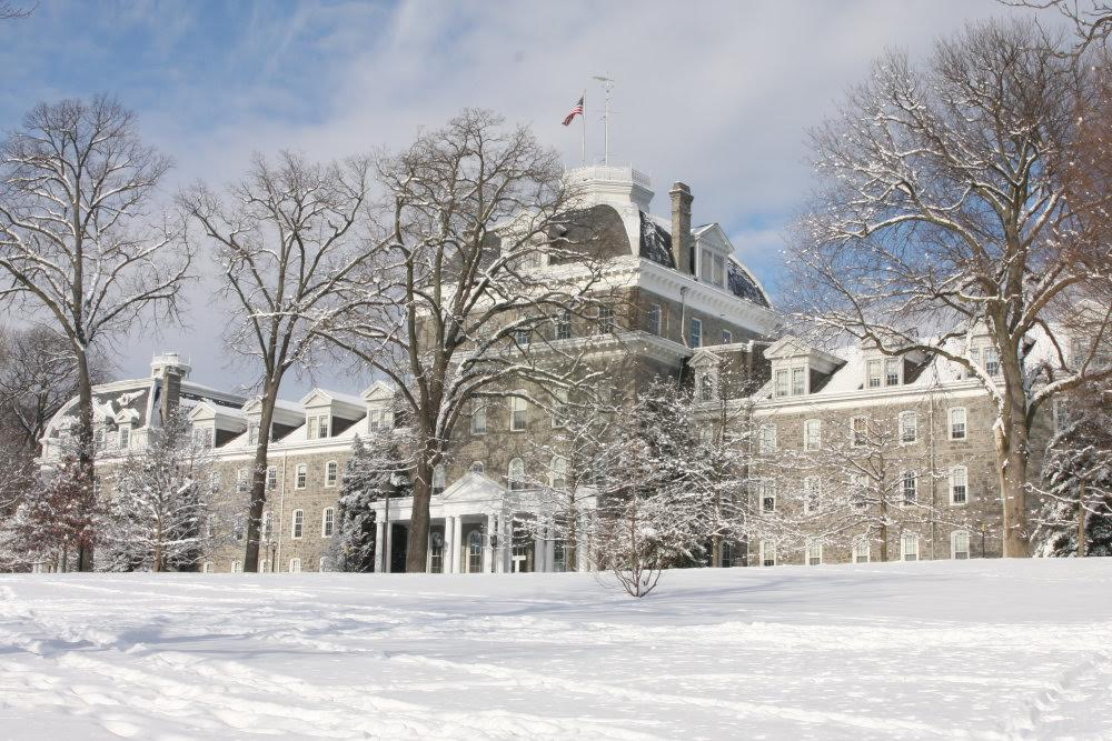 College in winter