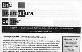 IC Newsletter from Fall 2007
