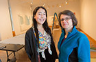 Tess Wei '17 and Andrea Packard '85 in the List Gallery