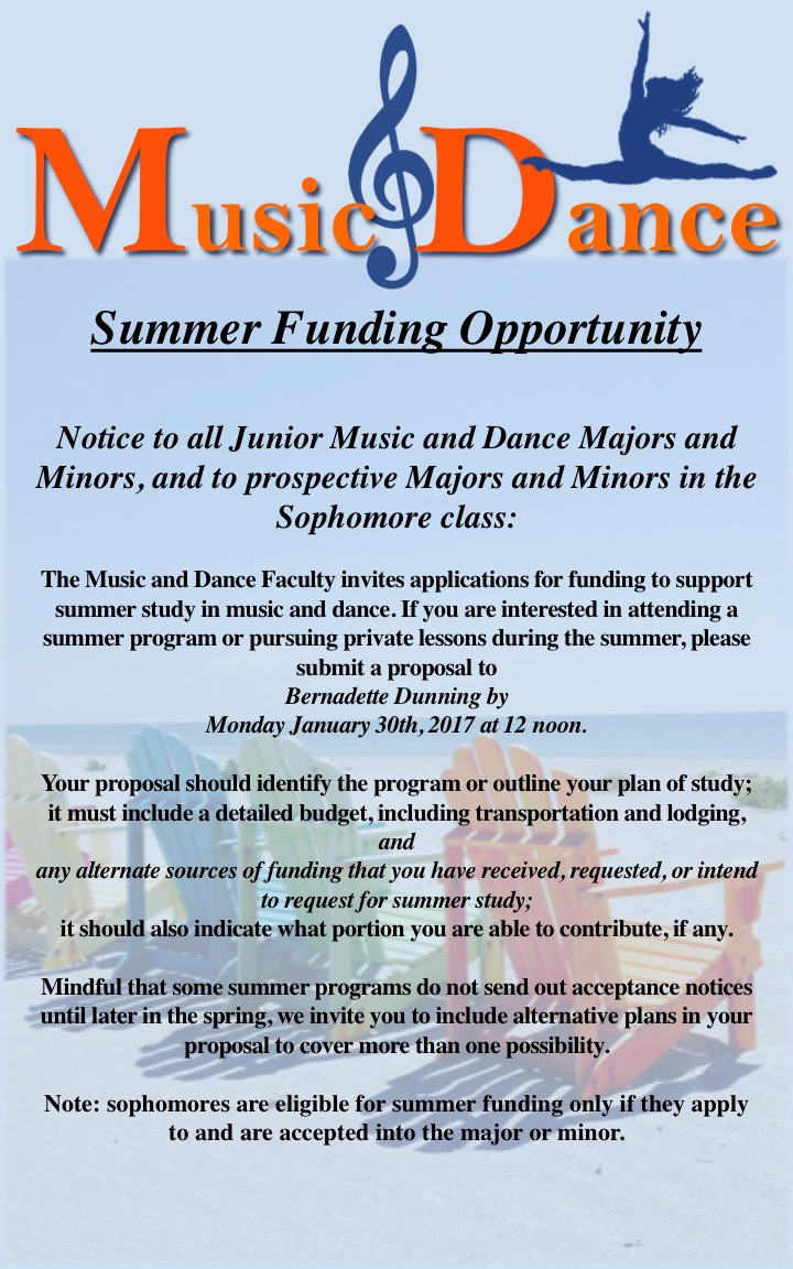 majoring minoring in music at music swarthmore the music and dance faculty invites applications every for funding to support summer study in music and dance junior music and dance majors and