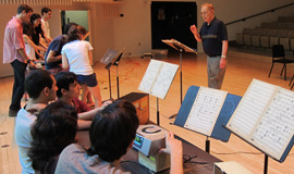 Orchestra 2001 rehearses