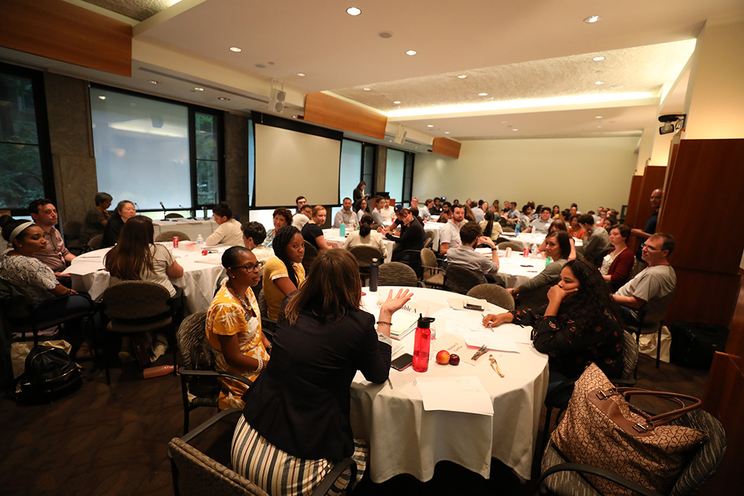 Room filled with access summit participants