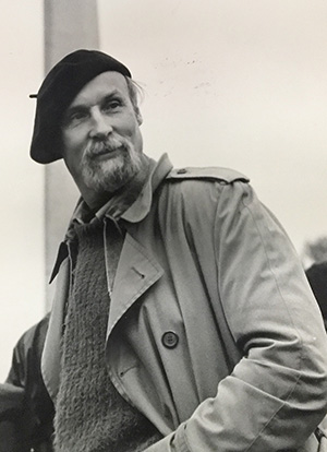 Thompson Bradley wearing beret