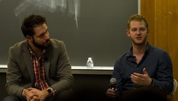 Reddit co-founder Alexis Ohanian (left) with Prizeo co-founder Bryan Baum '11