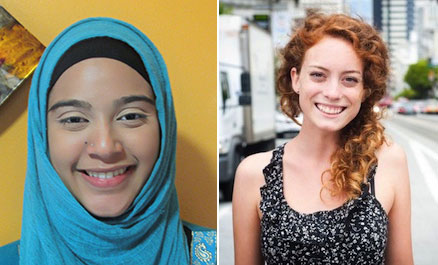 Asma Noray '17 and Mackenzie Welch '16