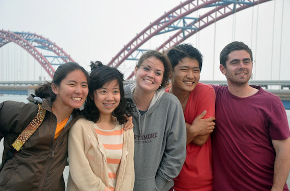 Students at the Jidong Oil Field