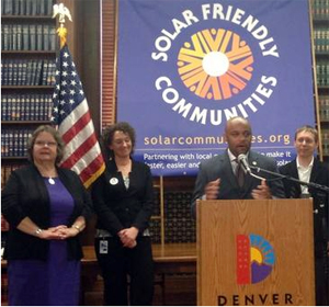 Denver accepts its award as the nation's most solar-friendly community.