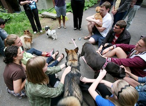 Students at this year's Pet Party