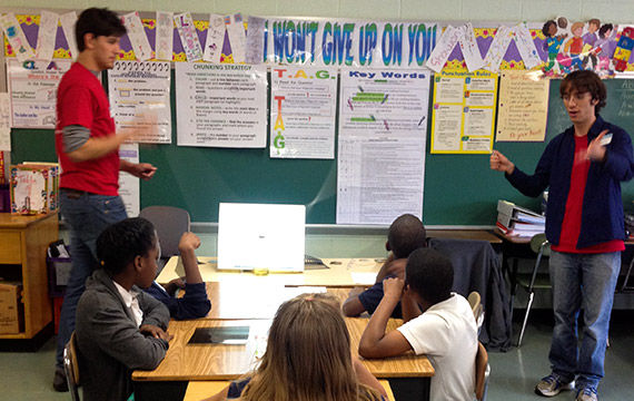 Swarthmore Physicists  Engage and Spark Curiosity of Area Schoolchildren