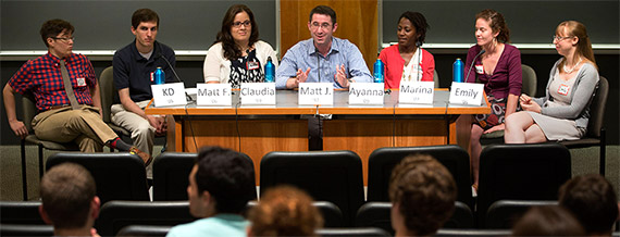 Young Alumni Share Career Experiences with Current Students