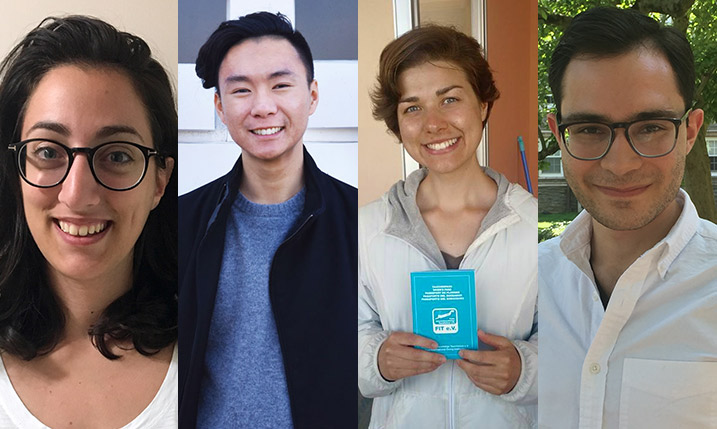 Portraits of Swarthmore's 2017 Fulbright winners