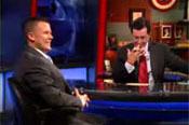 K. David Harrison with Colbert on The Colbert Report