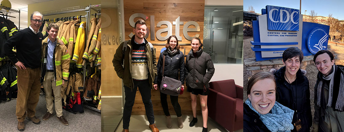 Swarthmore students during 2018 externships