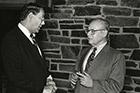 Eugene Lang '38 and Neil Austrian '61