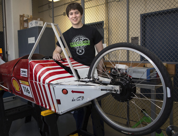 Neil Macfarland '15 and the vehicle