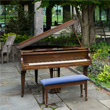Lost piano on the Swarthmore College campus