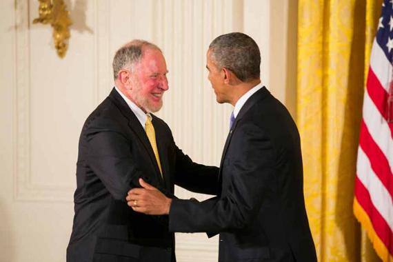 Robert Putnam '63 and Barack Obama