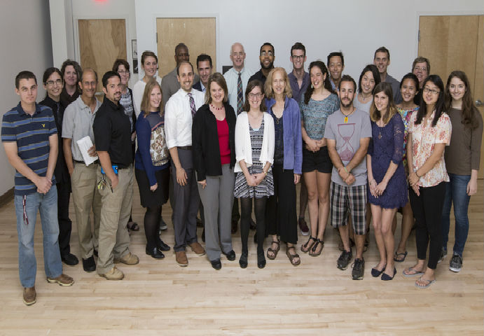 A group photo showing students with the Office of  Sustainability and other departments' staff