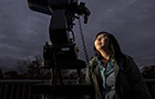 Linda Vu '18 searches the skies
