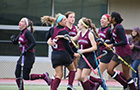 Field hockey players celebrate