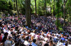 Swarthmore held its 145th Commencement ceremony in the Scott Amphitheater.