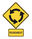 roundabout road sign