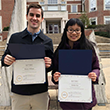 Henry Wilson '18 and Linda Lin '20 with awards